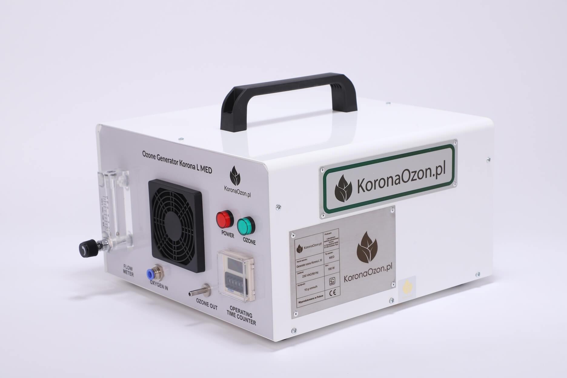 Ozonator domowy powietrza, wody i żywności (generator ozonu) Korona MED